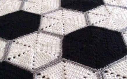 manta pelota de fútbol ganchillo