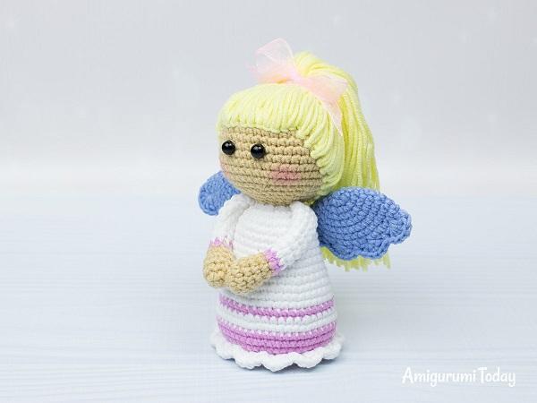 Ángel nena hecho en ganchillo