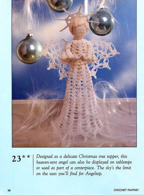 Angel de Navidad en ganchillo