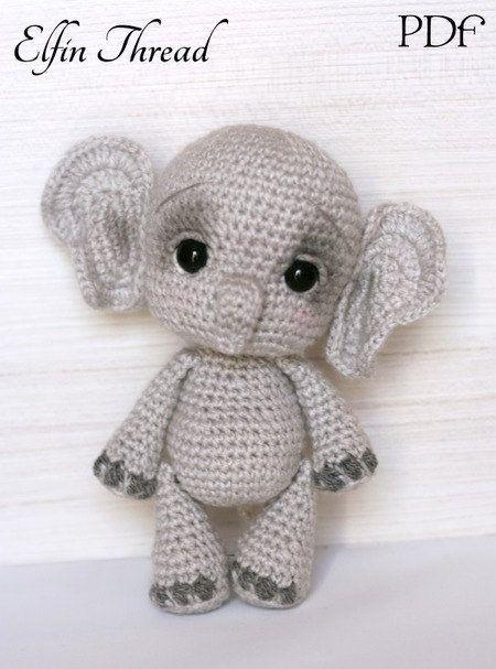 Elefantito indio amigurumi