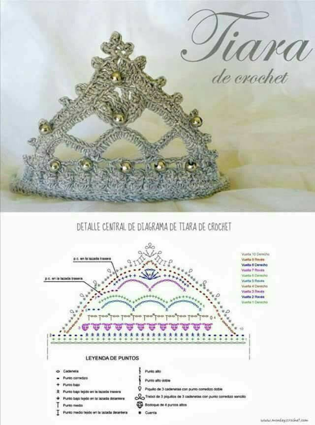 La tiara de ganchillo más bonita de internet