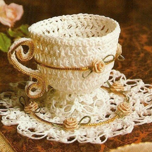 taza de te hecha en ganchillo
