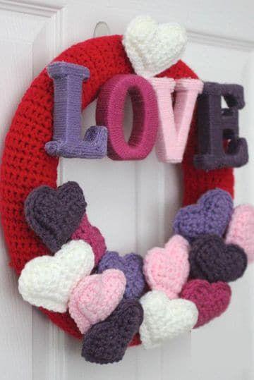 san valentin coronas crochet