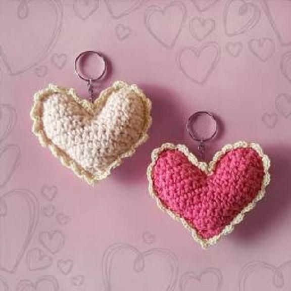 corazones de ganchillo